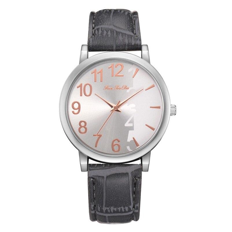 2018 High Quality women fashion casual watch luxury dress Leather bands Analog Quartz Wrist Watch clock relogio feminino Y12 (5)