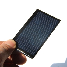 BUHESHUI Wholesale 500PCS/Lot 0.5W 6V 83mA Mini Solar Panel Polycrystalline Solar Cell DIY Solar Charger For 3.7V Battery(China)
