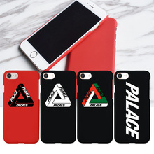 Logo NEW Matte Hard Plastic Palace Logo Case for iPhone 7, Fashion Phone Cover Coque for iPhone X 6s 6 Plus 7 8 Plus 5s 5 SE