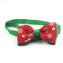 Hot Sale Cats Dog Snowflake Tie Wedding Accessories Dogs Bowtie Collar Holiday Decoration Christmas Grooming Pet Supplies