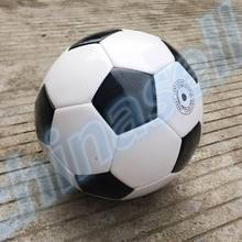10pcs Classic black white child Size 4 Outdoor Butyl inner Football Ball kid Size PU Soccer Ball Training ball(China)