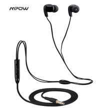 Mpow Stereo sport headphone headset 3.5mm Wired Earphone with Microphone and 3 Pair Earbuds sports runing headphone earphone(China)