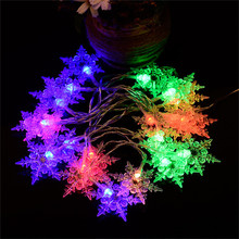 Multi 3.5M 100SMD White Snowflake LED String Curtain Christmas Lights Holiday Xmas Festival Wedding Party Decoration