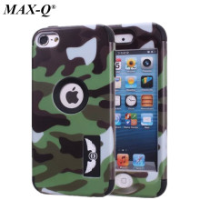 Cool Army Camouflage Armor Hard Case For ipod Touch 6 6G 6th Generation Gen Colorful Silicone Full Body Protective Cover Skin