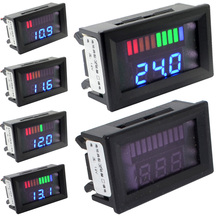 12V Acid Lead Batteries Indicator Battery Capacity Digital LED Tester Voltmeter With Dual Display Free Shipping 12000782