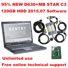 BEST D630+MB STAR C3+HDD with mb c3 2015.07 software All New red Relay and five Strong Copper Cable star c3 by DHL free Shipping