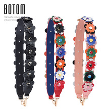 Botom New Flower Straps PU Leather Handbag Colorful Flower Strap Fashion Tide Women Bolsa Belt Bag Accessories Gifts Bag Strap(China)