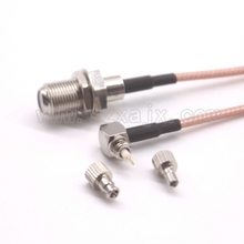 10pcs RF Coaxial cable F to CRC9/TS9 connector universal F female to CRC9/TS9 two Dual connector RG316 pigtail cable 15cm