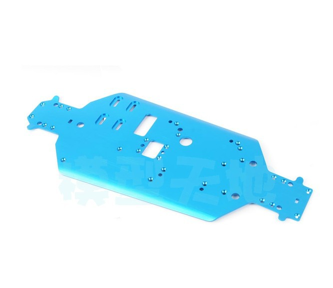 Free Shipping 06056 HSP Original Parts Spare Parts For 1/10 R/C Model Car Blue Aluminum Metal Chassis 06056 SKU:10523<br><br>Aliexpress