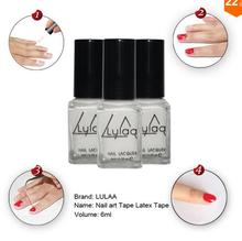 2016White Peel Off Liquid nail art Tape Latex Tape & finger skin protected liquid Palisade Easy clean Base Coat care nail polish