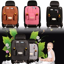 2017 1pc 55*40cm Bright Plush Senior Style Non-woven Large Car Multifunction Hanging Organizer Car Seat Back Capacity Storage