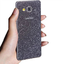 Ringcall Shiny Foil Film Sticker For Samsung Galaxy A3 A5 A7 A8 A9 2015 2016 2017 Matte Diamond Phone Sticker Back Flash Cover