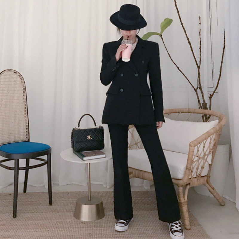 Set female 2019 spring Slim micro bell pants fashion OL professional suit jacket and pants women's casual two-piece suit