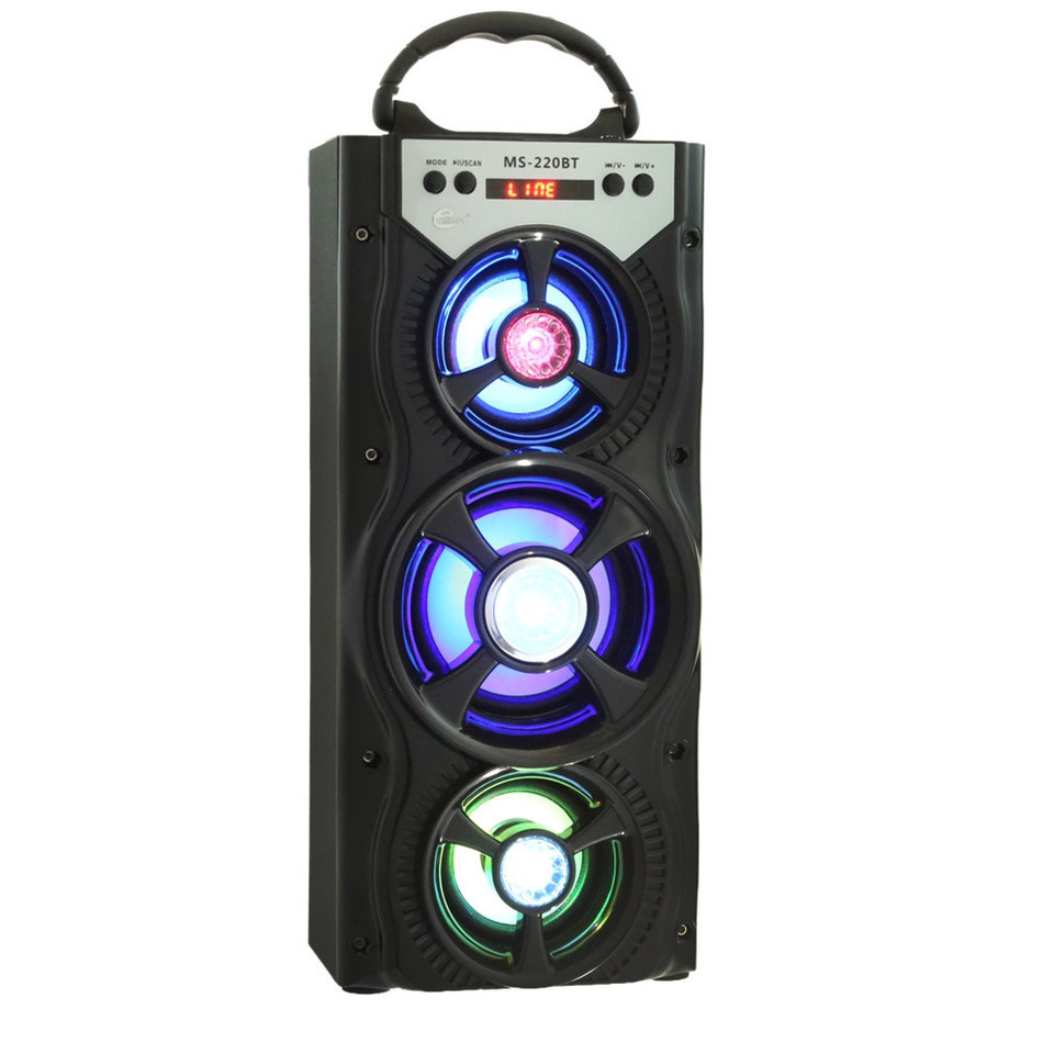 New Arrival Eonec MS - 220BT Portable Bluetooth Speaker FM Radio AUX  Bluetooth FM LCD Screen LED Shinning TF Card Music Playing<br>