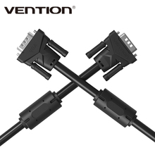 Vention Brand 1m 1.5m 2m 3m 5m 8m 10m 15m VGA to VGA Round Cable Male to Male Black Braided Shielding for PC HDTV VGA Cabo Video(China)