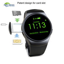 Original bluetooth Smart Watch KW18 Round Screen support SIM TF card Heart rate music bluetooth smart watch kw18 For IOS Android(China)