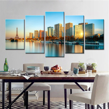 5 Pieces Drop Shipping Effiel Tower Paris Canvas Landscape Picture City Building Bridge Wall Art Modern Printing No Frame(China)