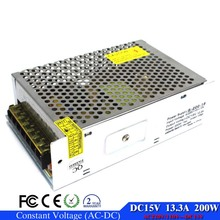 Factory Supplier DC15V 14A 200W Switching Power Supply Transformer 110V 220V AC DC15 For LED Strip Display Electrical Equipment(China)