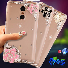 "Buy Lenovo K6 Note case Fashion Roses rhinestone Lenovo Vibe K6 Note Case Hard PC Cover Case Lenovo K6 note 5.0 "" for $4.00 in AliExpress store"