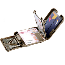h628 Outdoor sports camping hiking EDC multi-function smart card sets multifunction wallet anti-demagnetization coin folder