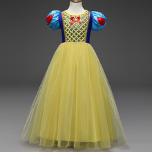 Chrildren Girls Snow White Cosplay Costume Halloween Carnival Dresses Baby Kids Cosplay Party Children Fancy Baby Girl Clothes