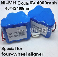 Powerfull! 6V 4000mah NIMH 6V 4AH ni mh C battery pack for Four-wheel Aligner steam cleaner Vacuum cleaner sweeper electric toy(China)