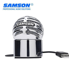 New Samson Meteorite USB Condenser Microphone Recording Microphone Removable magnetic base for chat Skype LOL YY Chrome-plated