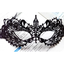 Masque Halloween Mask Sexy Black Lace Mask For Masquerade Party Anonymous Venetian Carnival Mask Half Face Eye Mask For Dance(China)