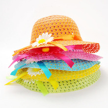 Girls Summer Beach Hats Bags Sun Hat Flower Straw Hat Cap Tote Handbag Bag Suit New 2017