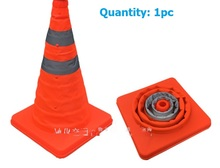 Folded roadblock, folding traffic reflecting cone, telescopic lifting type, road warning cone, Barrier Facil, tire repair tool(China)