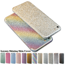 New Slim Fit Full Body Glitter Bling Sticker Case For iPhone 7/7 Plus Strass Coque Luxury Shining Skin Cover For iphone6 6s Plus