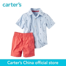 Carter's 2pcs baby 2-Piece Button-Front Shirt & Poplin Short Set 229G408,sold by Carter's China official store