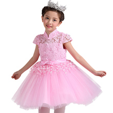 Spring summer 3-12 years Girls Princess Birthday Party Dress Childrens wedding dress short sleeve festival dress(China)