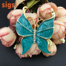 100pcs / lot Free Shipping 48mm hot sale high quality enamel insect brooch, custom colors brooch, butterfly broach