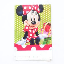 180*108cm 1pcs/lot Minnie Mouse Plastic Tablecloth For Kid Birthday Party Decoration Table Cover Disposable Tableware(China)