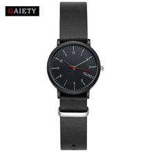 GAIETY Leather Strap Man Sport Luxury Black Wrist Watch For Men Clock Fashion Dress Sport Men's Watch Cheap G155