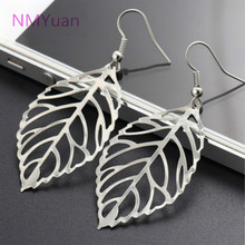 Hot sale Noble Vintage Leaf Earring New Design Bohemian Hollow Dangle Drop Earrings Charm Gold Jewelry For Women Wholesale(China)