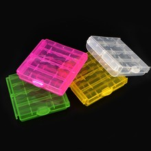 HOT 4pcs/set Various Colors Plastic Battery Storage Boxes Case Storage Holder Battery Cover for 10440 14500 AA AAA Battery Box(China)