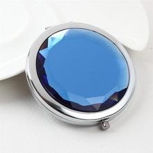 Portable Foldable Pocket Metal Makeup Compact Mirror Woman Cosmetic Mirror Double Sides