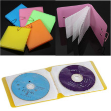 Nice 12 Plastic CD DVD Disc Double Sleeve Holder Clear Storage Case Package