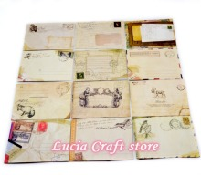 Lucia crafts (1 lot = 12 Pcs) 9.5*7.3cm Vintage mini envelope European style Scrapbooking Card stationery supplies 048012110