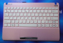 100% brand new and original United States keyboard with pink frame white keys for ASUS Eee pc 1025 1025C 1025CE free shipping(China)