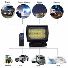 IP67 10-30V Remote control LED Searchlight 7inch 50W Spotlight LED Work Light TRUCK SUV BOAT MARINE driving light