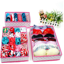 3 Pcs/set Dots Grids Storage Box Set For Holder Bra Underwear Tie Socks Panties Drop Shipping