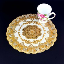 4PCS/LOT European PVC dining table placemats coaster coffee drinks kitchen accessories cup bar mug placemats coaster mats pads(China)