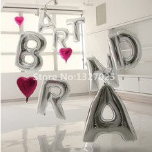 40 inches Big Foil Balloon A-Z Letter For Wedding Birthday Party Decoration Silver Wedding Supplies Large Globos Helio Wholesale