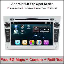 2 Din Android 6.0.1 For Opel Astra HJG Steering-Wheel Car DVD Player Multimedia HD1080P Wifi 3G Bluetooth OBD2 USB SD TV AUX(China)