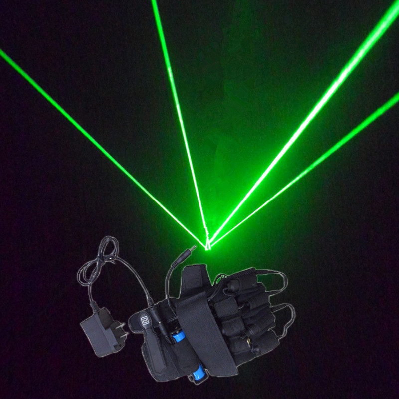 Free shipp green Laser gloves  four fingers bar performance DJ club stage props  532nm  Nightclub dancer props Radium shoots <br>