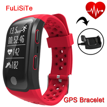 Best Fitness Bracelet S908 GPS Sleep Monitor Heart Rate Cell Phone Bracelet ip68 Waterproof Alam Clock Smart Band for Sport swim(China)