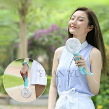 Free shipping 2017 industrial fan LED lighting Mini usb fan cooling Handheld air conditioner for summer outdoor